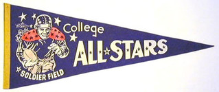 1940s-football-college-all-stars-pennant