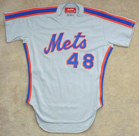 1984 New York Mets Game Used Jersey of Mel Stottlemyre