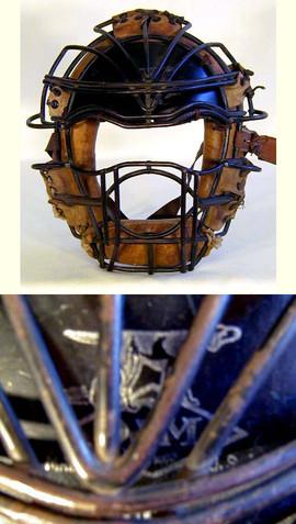 1920's Draper & Maynard Catcher's Mask w/ Leather Visor