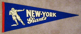 1940's New York Giants Football Pennant