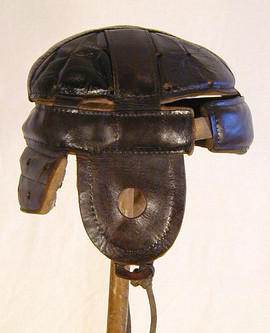 1900-10 Leather Football Helmet made by Spalding