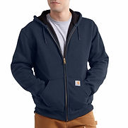 Carhartt® 2X Regular Navy Rutland Thermal Lined 12 Ounce Cotton And Polyester Water Repellent Sweatshirt With Front Zipper Closure