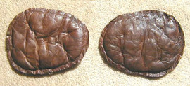 1890's Quilted Leather Football Shoulder Pads