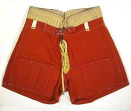 Reeded-Slatted Vintage Hockey Shorts - 1920's