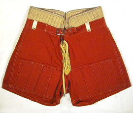 Reeded-Slatted Vintage Hockey Shorts - 1920's