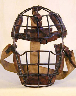 Turn of the Century Goggle-Eye Style Catcher's Mask