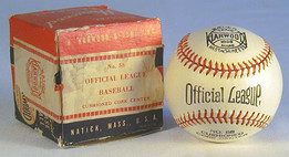 """This is a vintage 1930's Harwood """"Official League"""" Baseball MINT in the Original Box. Outstanding!"""