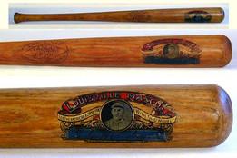 1921-24 Tim G. Hendryx Decal Baseball Bat