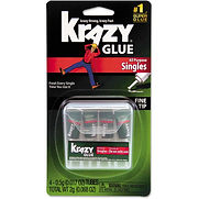Krazy Glue Single-Use Tubes w/Storage Case, 4/Pack