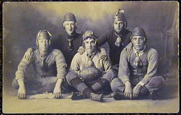 Exceptional 1909 Football Photo Postcard