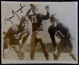 Sammy Baugh Signed Football Photograph