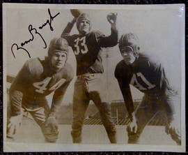 Sammy Baugh Signed Football Photograph