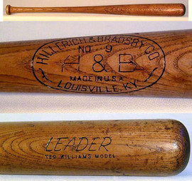 1940-50's Ted Williams Louisville Slugger Baseball Bat