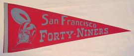 1940's San Francisco 49ers Football Pennant