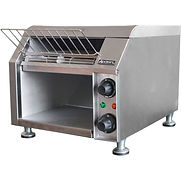 Adcraft CVYT-120 – Conveyor Toaster, 2 Slice, 300 Slices Per Hour, Stainless Steel, 10″W, 120V