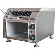 Adcraft CVYT-120 – Conveyor Toaster, 2 Slice, 300 Slices Per Hour, Stainless Steel, 10″W, 120V