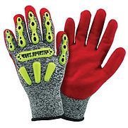 West Chester 2X R2 FLX Cut Resistant Red Nitrile Dipped Palm Coated Work Gloves With Elastic Wrist