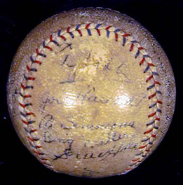 1928 Philadelphia Athletics Team Signed Baseball with Cobb, Speaker, etc. This is a Reach Official American League Baseball from the Barnard presidency. The ball remains in excellent condition and features the signatures of Ty Cobb, Tris Speaker, Al Simmons, Bing Miller, Mickey Cochrane, George Earnshaw, Jimmie Dykes, Mule Haas, Lefty Grove, Max Bishop, and several others for a total of sixteen autographs.