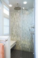 Wall - 12x12 Honed Desert sand Stripe Slate