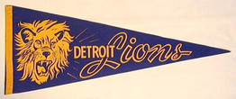 1940's Detroit Lions Football Pennant