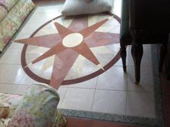 7ft CUSTOM Compass Medallion Mosaic