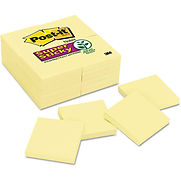 Post-it Notes Super Sticky Notes 65424SSCY, 3″ x 3″, Canary Yellow, 90 Sheets/Pad, 24/Pack