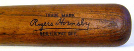 1920's Rogers Hornsby Louisville Slugger Baseball Bat