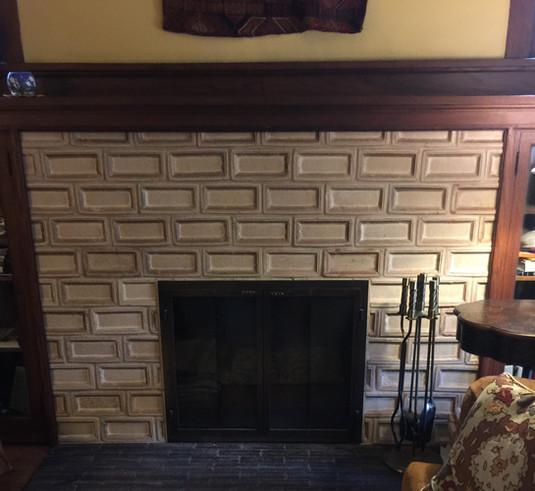 9.5 x 5.5 Leather Rectangle Frame Tile