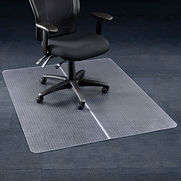Interion Office Chair Mat for Carpet – 46″W x 60″L – Straight Edge