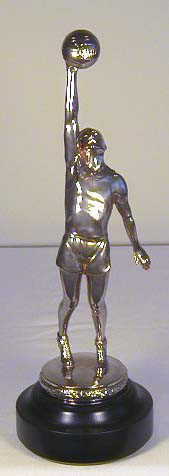 "Vintage 1930's HUGE 16 ½ "" Basketball Figural Trophy!"
