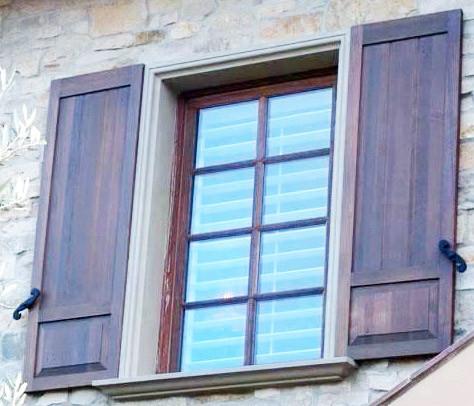 Raised Panel Window Shutter