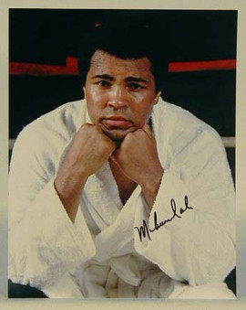 "Muhammad Ali Signed 8""x 10"" Color Photograph"
