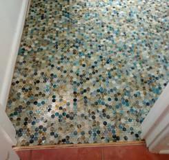 Penny Round Kukai Natural Glass Mosaic
