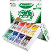 Crayola Washable Markers Classpack, 8 Assorted Colors, 200/Box