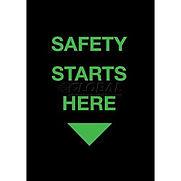 NoTrax Safety Starts Here Safety Message Mat 3/8″ Thick 4′ x 6′ Black