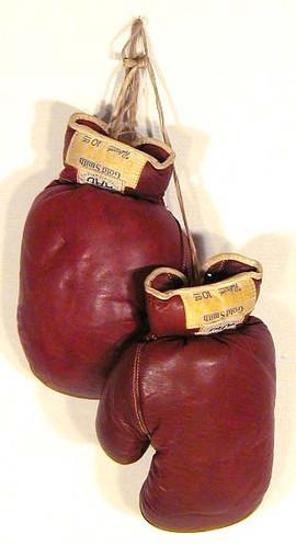 1930 - 1940's Boxing Gloves - Golden Gloves - GoldSmith