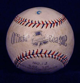 Here we are offering a vintage Falstaff Official League baseball with red and blue stitching. An attractive logo and nice markings make this an awesome baseball in and of itself. A choice item for the collector of vintage baseballs. However, this baseball includes an additional point of interest. Dizzy Dean was part of the Falstaff advertising campaign and he hand signed this baseball on the north panel. The autograph is light but easily readable. So this unique baseball is a beauty as a stand alone antique baseball but also doubles as a single signed Dizzy Dean baseball.
