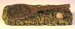 1890's Ornate Tennis Racket Desk Paper Holder