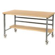 Mobile 72″ X 30″ Shop Top Workbench – Gray