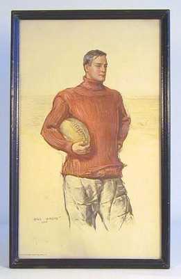 1905 Football Player Print