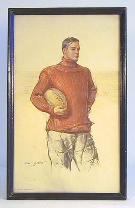 1905 Football Player Print