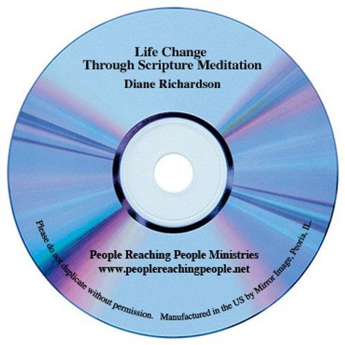 Life Change Through Scripture Meditation Audio CD