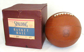 1930-40's Spalding Laced Basketball MINT in the Original Box