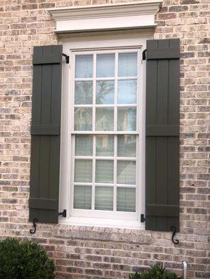 Board and Batten Window Shutter Style