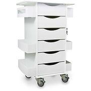 TrippNT Core Locking 6 Drawer Lab Cart, 23″W x 19″D x 35″H, White