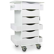 TrippNT Core Locking 6 Drawer Lab Cart, 23″W x 19″D x 35″H, White