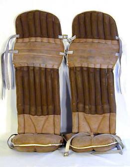 1910's Hockey Goalie Pads - Incredibly Rare