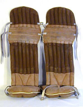 1910's Hockey Goalie Pads - Incredibly Rare