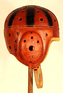 1920's Leather Football Helmet
