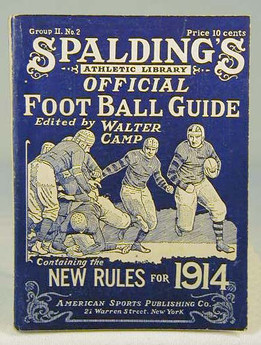 1914 Spalding Official Football Guide by Walter Camp